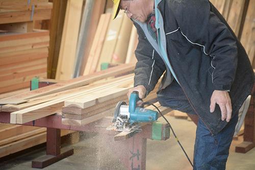 木材加工中